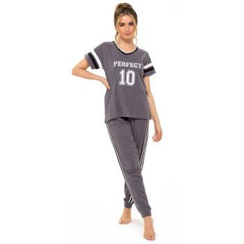 "*LN1336, Ladies Jersey Marl ""Perfect 10"" Pyjama Set £7.80.  pk12..."