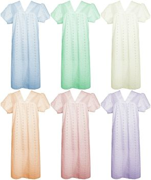 Code:TT2, Ladies allover short sleeve anglais nighty.....