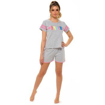 LN1335, Ladies Jersey Armour Print Shorts Pyjama Set £6.05.   pk12...