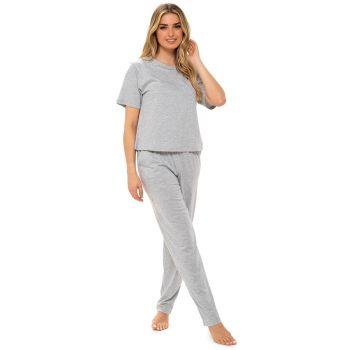 LN1374, Ladies Jersey Marl Pyjama Set With A Boxy Style Top £6.50.   pk12...