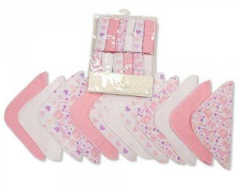 GP1057P, Baby 12 Pieces Wash Cloth Pack - Pink £2.95.  6PKS...