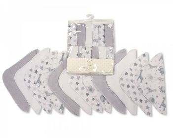 GP1057G, Baby 12 Pieces Wash Cloth Pack - Grey £2.95.  6PKS...