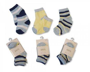 BW2095, Baby Boys 3 in a pack Socks £1.40.  8pks...