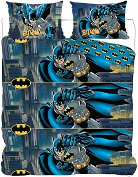 "*V1529, Official DC Comics ""Batman"" Reversible Double duvet cover set £13.25. pk3..."