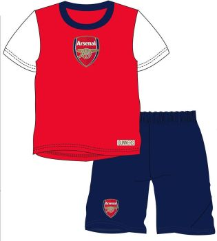 "WH36058, Official ""Arsenal"" Boys Shortie Pyjama £4.75.   pk18...."