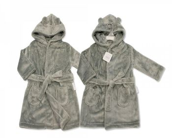 *BIS2345G, Baby Hooded Bathrobe - Grey £4.95.  PK6...