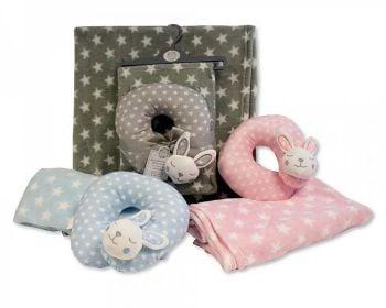 GP1094, Baby Blanket with Neck Wrap - Bunny £5.50.  PK6..