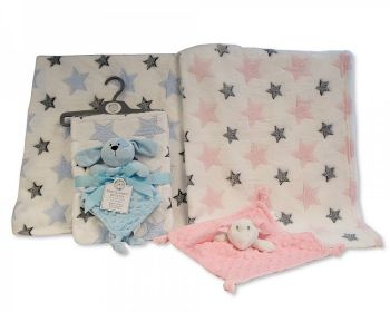 GP1093, Baby Blanket with Bubble Comforter - Bunny/Puppy £5.50.  PK6..