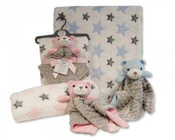 GP1092, Baby Blanket with Bubble Comforter - Teddy £5.50.  PK6..