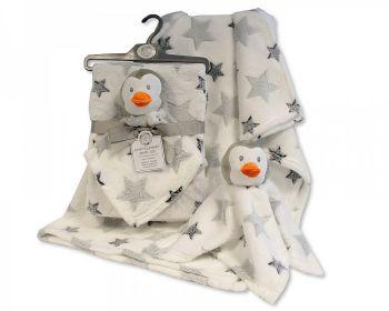 GP1091, Baby Blanket with Penguin Comforter £5.50.  PK6..
