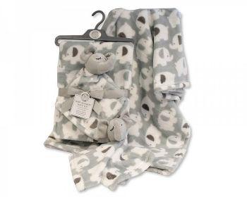 GP1089, Baby Blanket with Elephant Comforter £5.50.  PK6..