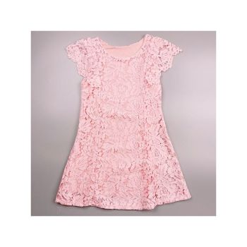 Code:3156PINK, Girls Floral Overlay Laced Dress £6.95.  pk6...
