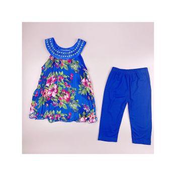 F02BLUE, Girls Floral Tunic  & Crop Legging Set £5.50.  pk6....