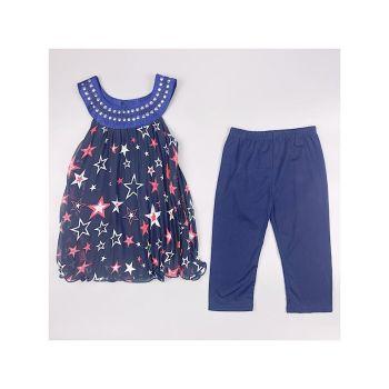F17NAVY, Girls Star Print Tunic & Crop Legging Set £5.50.  pk6....