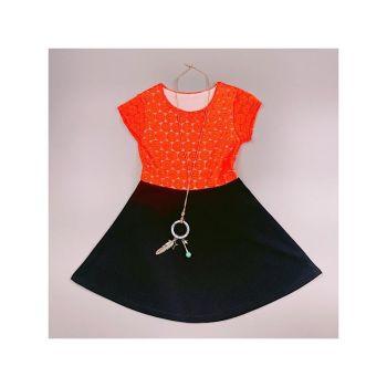 D989ORANGE, Girls Floral Laced Dress Set £5.50.   pk7...
