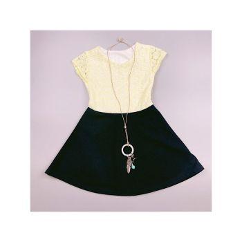 D989YELLOW, Girls Floral Laced Dress Set £5.50.   pk7...