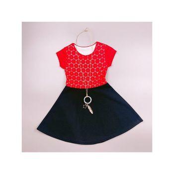 D989RED, Girls Floral Laced Dress Set £5.50.   pk7...