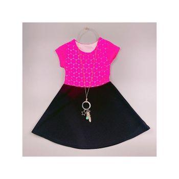 D989HPINK, Girls Floral Laced Dress Set £5.50.   pk7...