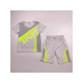 FB219GREEN, Boys T shirt & Short Set With Detail As Shown £4.95.  pk7...