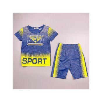 FB309BLUE, Boys T shirt & Short Set With Detail As Shown £4.95.  pk7...