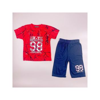 B383RED, Boys T shirt & Short Set With Detail As Shown £3.95.  pk5...