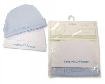 PB553S, Premature Baby Boys 2 in a Pack Hats £1.80.  6pks...