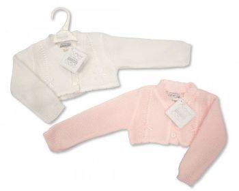 BW0208, Knitted Bolero Baby Cardigan £3.50.  PK12,...