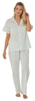 "MA24567, ""Marlon"" brand ladies short sleeve/long pant poly/cotton pyjama £7.50.  pk2..."