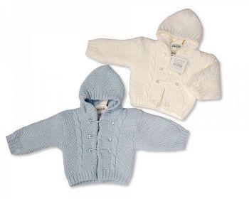 BW629, Knitted Baby Boys Pram Coat £8.00.   PK12...