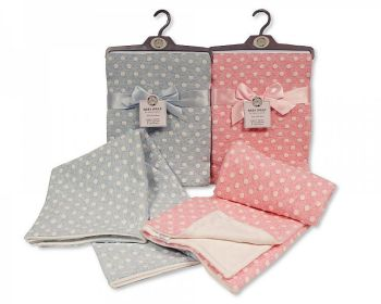 BW1049, Baby Cotton Wrap - Spots....