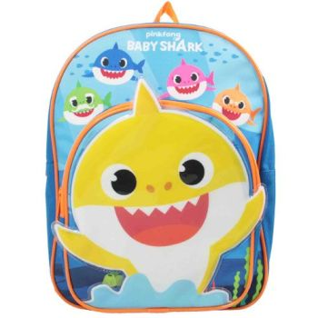 """BS1074, Official """"Baby Shark"""" Arch Pocket Backpack £7.50.  pk6..."""