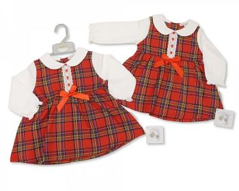 BIS2410, Baby Tartan Dress with Lace and Bow £9.80.   PK6..