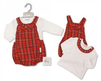BIS2404, Baby Tartan 2 Pieces Set with Bow £9.95.   PK6..