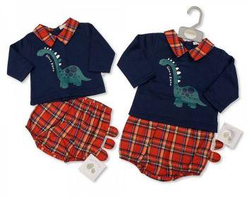 BIS2403, Baby Tartan 2 Pieces Set - Dino £9.95.   PK6..