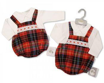 BIS2396, Baby Tartan 1 Piece Lace Dungaree Set £13.45.  PK6..