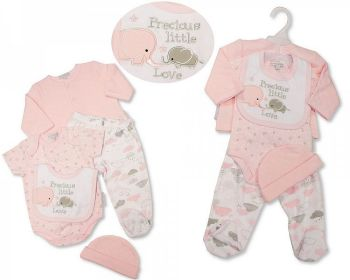 GP1084, Baby Girls Quilted 5 Pieces Gift Set - Precious Little Love £6.35.   PK6...