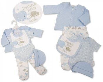 GP1085, Baby Boys Quilted 5 Pieces Gift Set - Precious Little Love £6.35.   PK6...