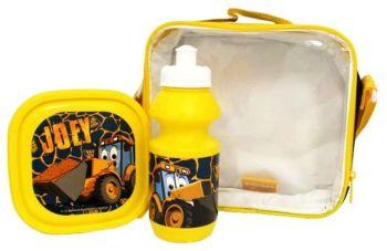 "*Code:9382, Official ""JCB"" 3pc Lunch Bag Set £3.95.  pk12....."