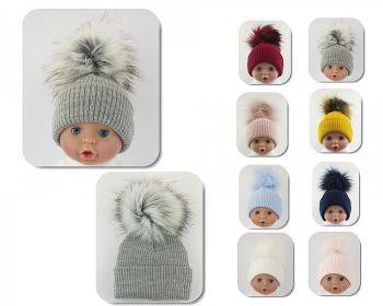 BW605ES, Baby Hat with Pom-Pom  - Extra Small £5.05.  PK6...