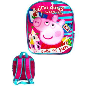 """9727N, Official """"Peppa Pig"""" Premium Backpack £2.90.  pk6..."""