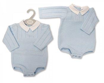 BW1135, Baby Boys Knitted Short Romper £10.00.  PK6...