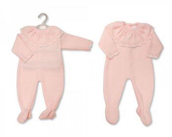 BW1134, Baby Girls Knitted Long Romper £10.60.  PK6..