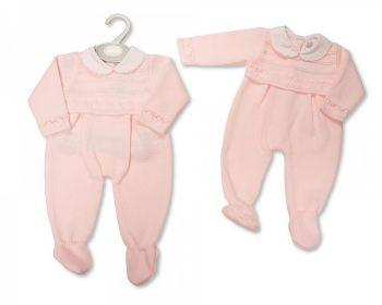 BW1133, Baby Girls Knitted Long Romper £10.60.  PK6..
