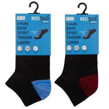 42B707, Boys 5 Pack Mesh Insert Trainer Socks Twist Yarn £1.85.  96pks...