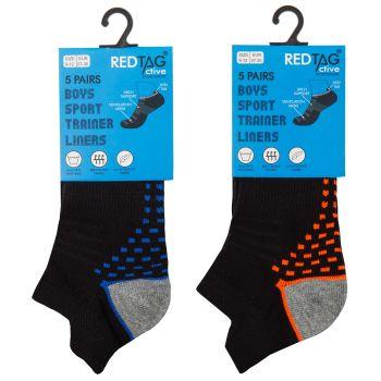 42B717, Boys 5 Pack Mesh Insert Trainer Socks £1.85.  96pks...