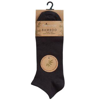40B588, Mens 3PK Bamboo Plain Trainer Liner Socks- Black £1.75.  72pks...