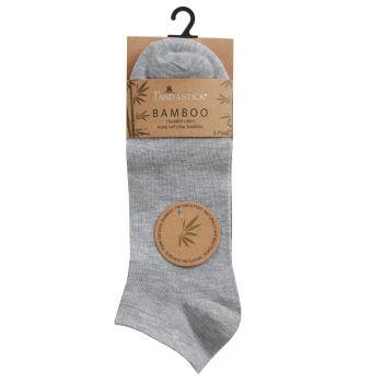 40B589, Mens 3PK Bamboo Plain Trainer Liner Socks- Grey Marl £1.75.  72pks...
