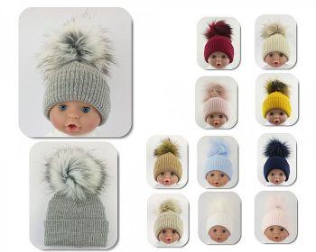 BW604, Baby Hat with Pom-Pom  - Large/Extra Large £5.05.  PK6...