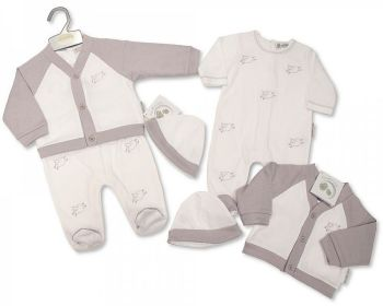 BIS2450, Baby 2 Pieces Set with Hat - Sheep £9.80.  PK6...