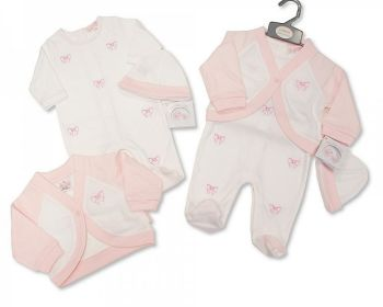 BIS2449, Baby Girls 2 Pieces Set with Hat - Butterflies £9.80.  PK6...